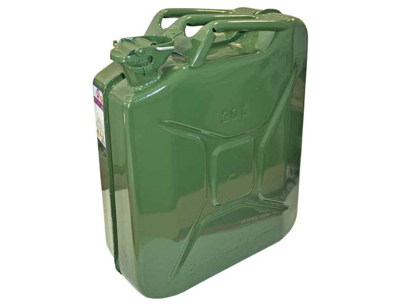 Green Jerry Can - Metal 20 Litre