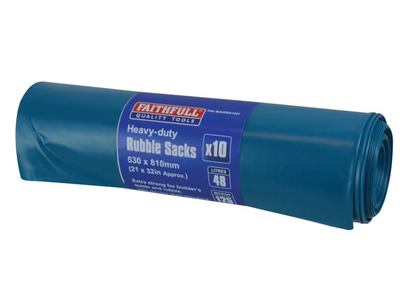 Blue Heavy-Duty Rubble Sacks (10)