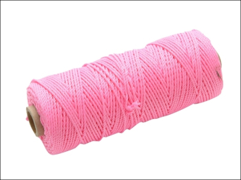 Hi-Vis Nylon Brick Line 100m (330ft) Pink