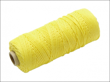 Hi-Vis Nylon Brick Line 100m (330ft) Yellow