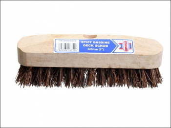 Deck Scrub Stiff Broom Head 225mm (9in)