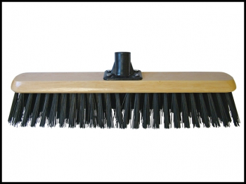 Black PVC Platform Broom Head 450mm (18in) Threaded Socket