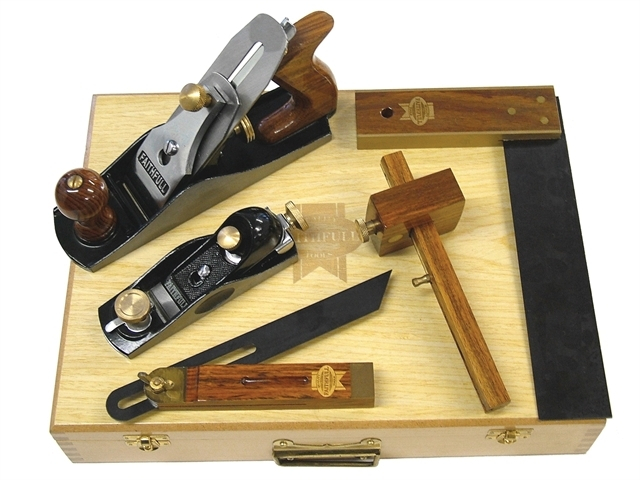 Carpenters Tool Kit 5 Piece in Wooden Box