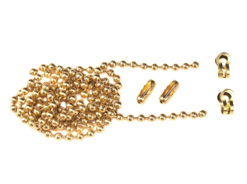 Brass Ball Chain Kit Polished Brass 1m