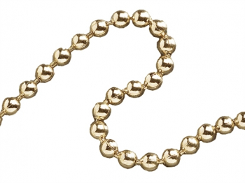 Ball Chain Polished Brass 3.2mm x 10m
