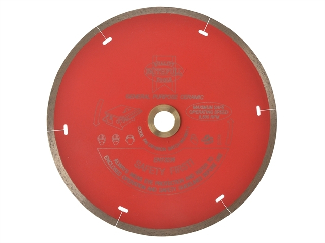 Diamond Tile Blade Continuous Rim 180 x 25.4mm
