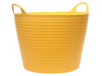 Heavy-Duty Polyethylene Flex Tub 28 litres Yellow