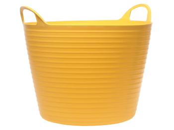Heavy-Duty Polyethylene Flex Tub 42 litres Yellow