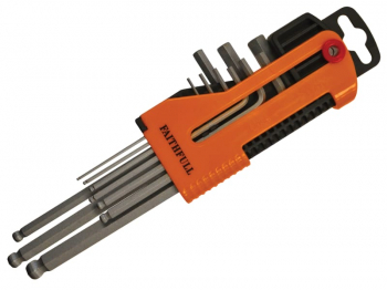 Long Arm Ball End Hex Key Set, 9 Piece (1.5-10mm)