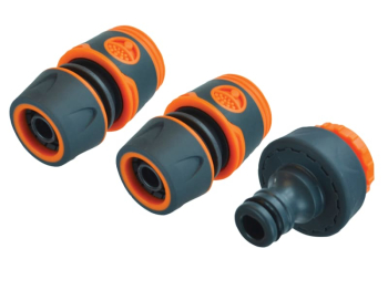 3/4in Plastic Hose Fittings Kit, 3 Piece