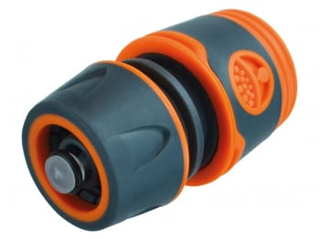 Plastic Water Stop Hose Connector 1/2in