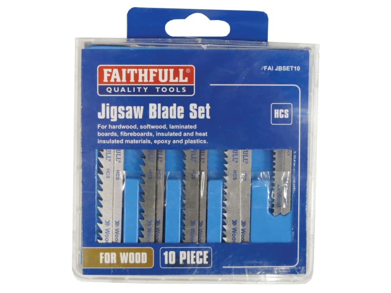 Jigsaw Blade Set of 10 Assorted