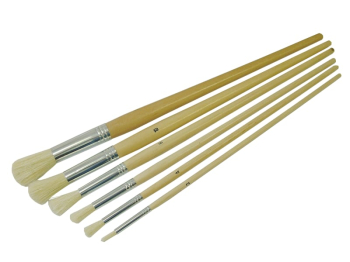 Round Fitch Brush Set 6 Piece