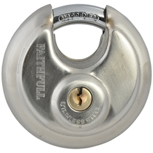Stainless Steel Discus Padlock 70mm