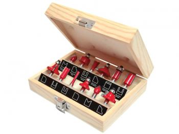 1/4in TCT Router Bit Set, 12 Piece