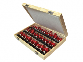 1/2in TCT Router Bit Set, 35 Piece