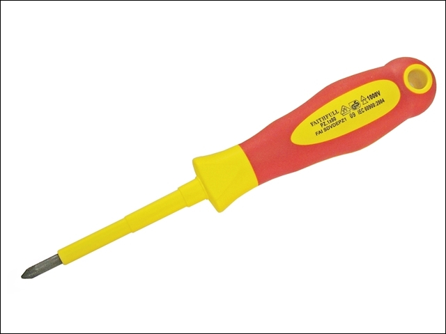VDE Soft Grip Screwdriver Phillips Tip PH2 x 100mm