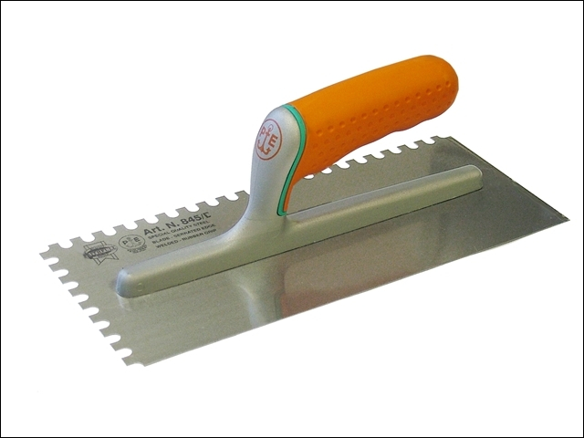 Adhesive Trowel Serrated Edge 8mm Soft Grip Handle 11 x 4.3/