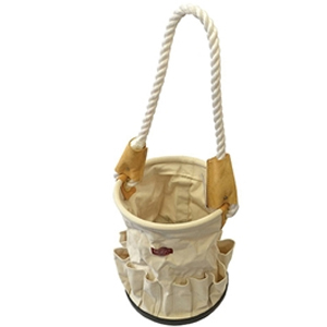 Canvas Tool Bucket with Rope Handle