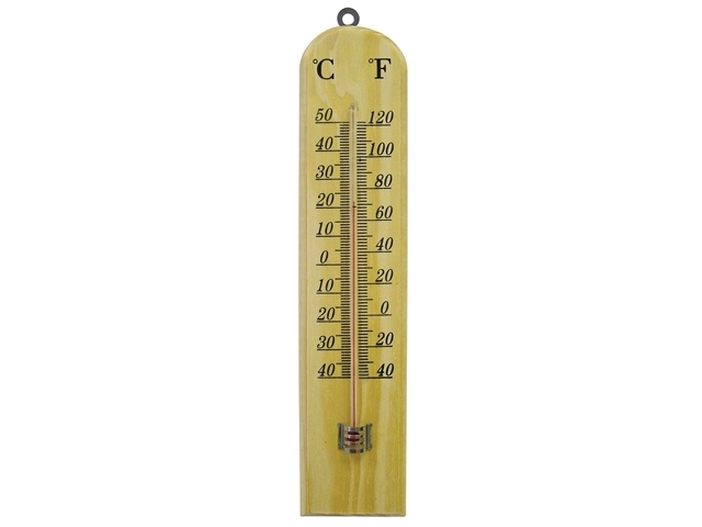 Thermometer Wall Wood 260mm