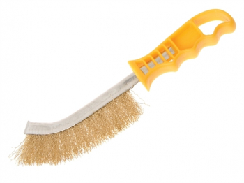 Wire Scratch Brush Brass Yellow Handle