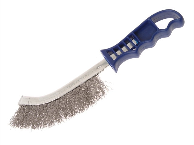 Wire Scratch Brush Stainless Steel Blue Handle