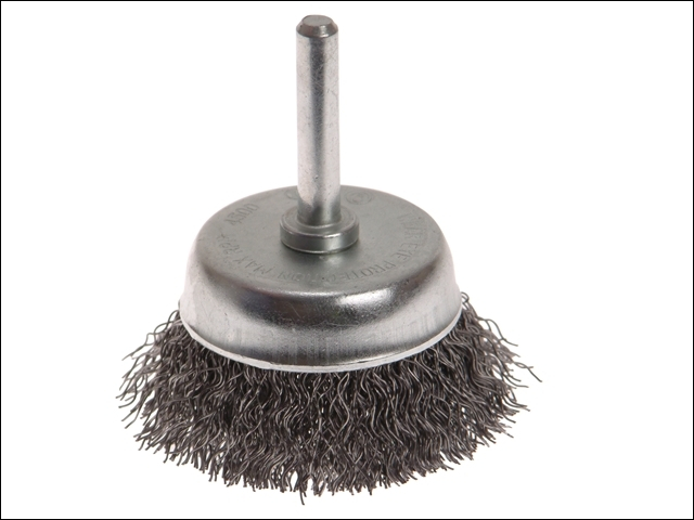 Wire Cup Brush 50mm x 6mm Shank 0.30mm