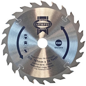 TrimSawBlade 165 x 20mm x 24 T