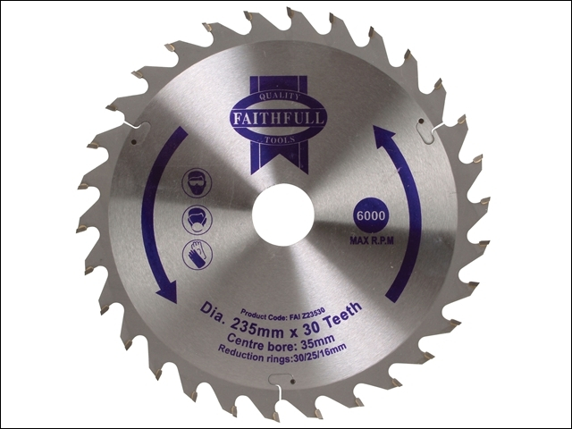 Circular Saw Blade TCT 235 x 3 5mm (16/25/30mm) x 30T General