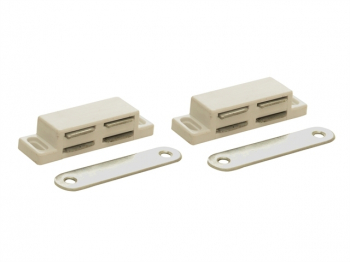 Magnetic Catch - White Plastic (Pack 2)