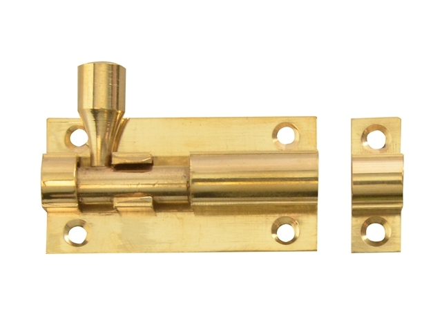 Door Bolt - Brass 50mm (2in)