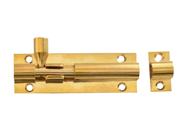 Door Bolt - Brass 75mm (3in)