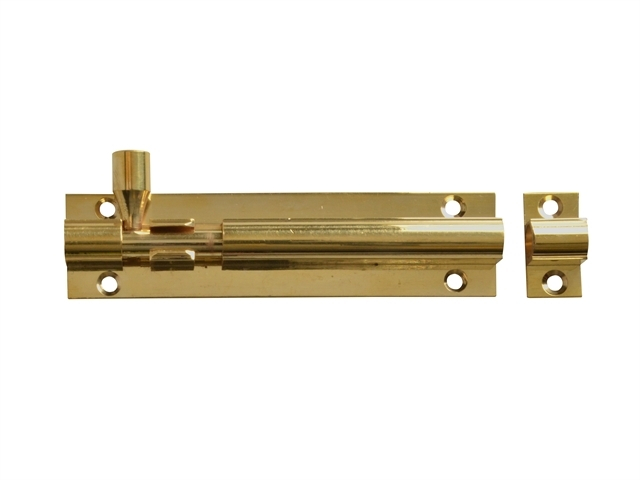 Door Bolt - Brass 100mm (4in)