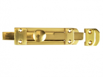 Heavy-Duty Door Bolt - Brass 150mm (6in)