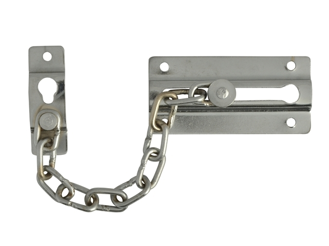 Door Chain - Chrome Finish Plated 80mm