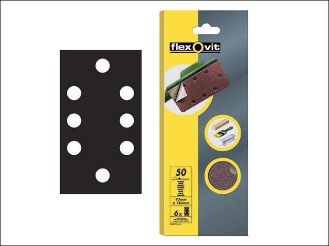 1/3 Sanding Sheets Quick Relea se Medium Grit (Pack of 6)