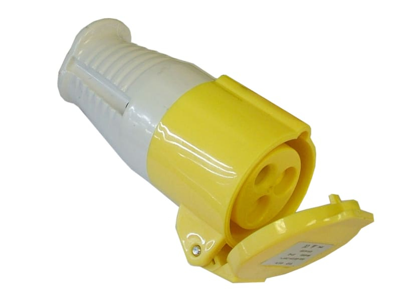 Yellow Socket 16 Amp 110 Volt