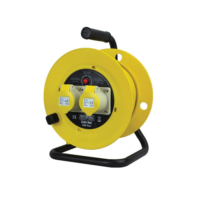 Cable Reel 25m 16 amp 2.5mm Cable 110V