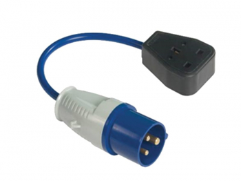 Fly Lead 240 Volt 3 Pin Plug t o 240v 3 Pin Socket & 35cm Lea