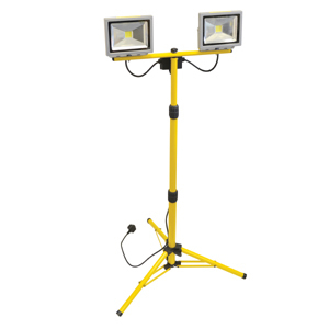 COB LED Twin Tripod Site Light 40W 2800 Lumens 240V