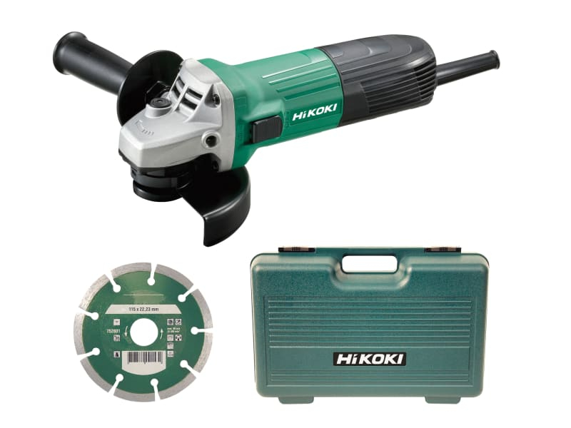G12STX/J8 Angle Grinder 115mm Diamond Blade & Case 600W 110V