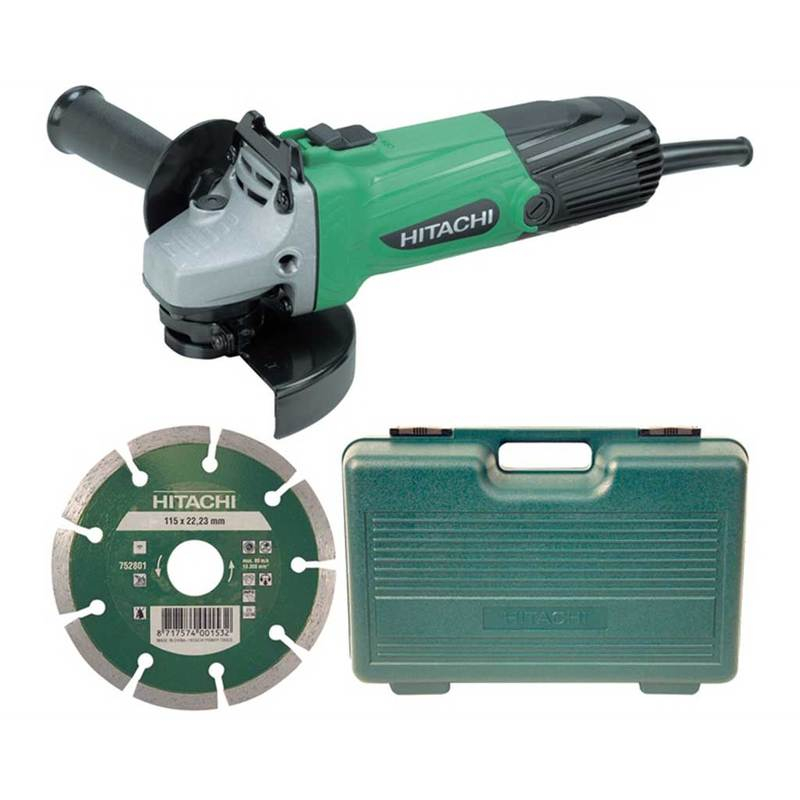 G12SSCD Angle Grinder 115mm, Diamond Blade & Case 580W 110V