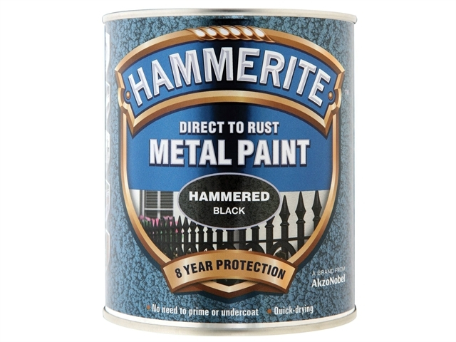 Direct to Rust Hammered Finish Metal Paint Black 750ml