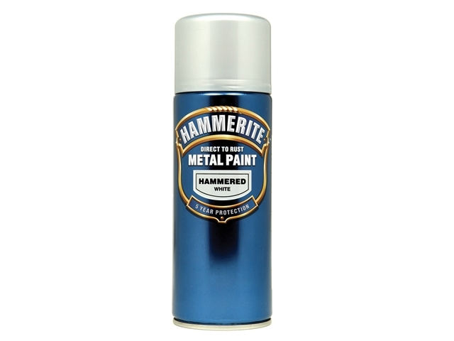 Direct to Rust Hammered Finish Aerosol White 400ml