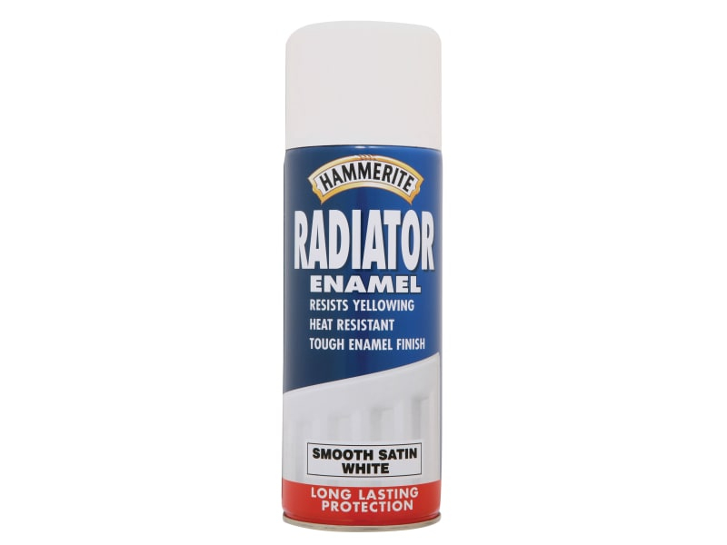 Radiator Enamel Aerosol Satin White 400ml