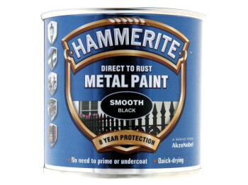 Direct to Rust Smooth Finish Metal Paint Black 250ml