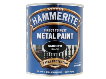 Direct to Rust Smooth Finish Metal Paint Black 750ml