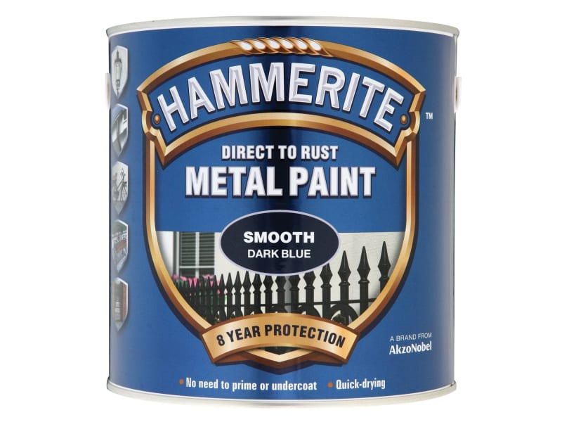Direct to Rust Smooth Finish M etal Paint Dark Blue 2.5 Litre