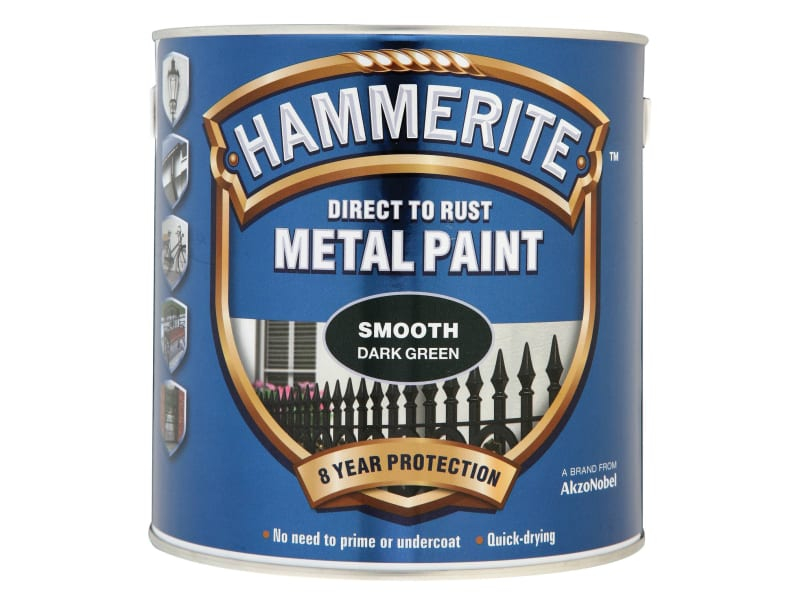 Direct to Rust Smooth Finish M etal Paint Dark Green 2.5 Litr