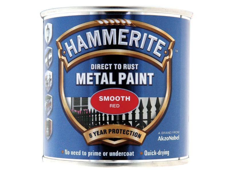Direct to Rust Smooth Finish Metal Paint Red 250ml